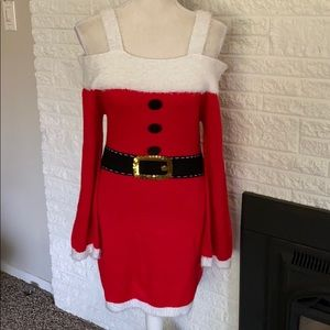 Sexy Mrs. Claus sweater dress